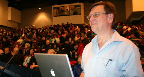 Tom Swanky gives smallpox presentation in Williams Lake, February, 2010.