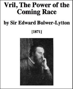 "The cover of Lord Lytton's book, ""The Coming Race"""