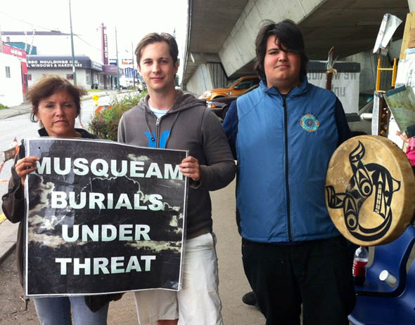 Shawn with Mary Point at Musqueam Site.
