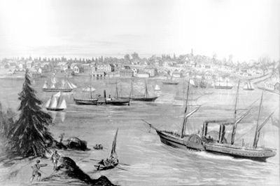 Victoria, circa 1862, as seen from Songhees village.