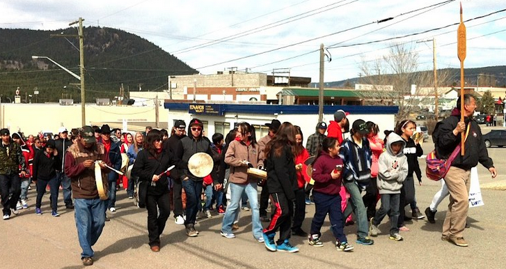 Tsilhqot'in youth rally at Williams Lake. Photo by Tom Swanky.