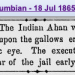 The tragedy of Ahan, martyred by the Crown on July 18, 1865